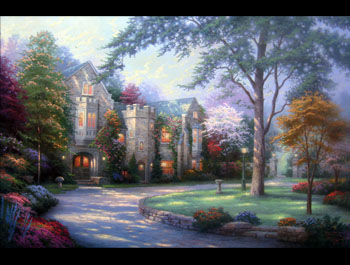 Thomas Kinkade - Beyond Summer Gate