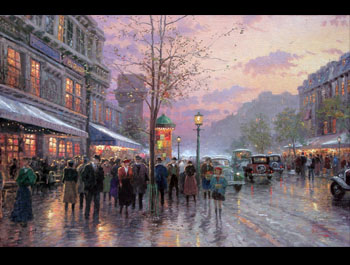 Thomas Kinkade - Boulevard Lights, Paris