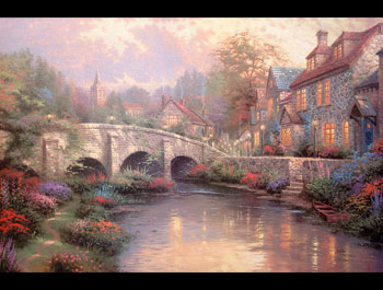 Thomas Kinkade - Cobblestone Brook