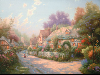 Thomas Kinkade - Cobblestone Village
