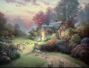 Thomas Kinkade - Good Shepherd's Cottage