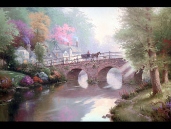 Thomas Kinkade - Hometown Bridge