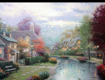 Thomas Kinkade - Lamplight Brooke