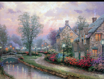 Thomas Kinkade - Lamplight Lane