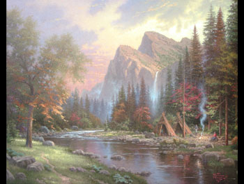 Thomas Kinkade - Mountains Declare His Glory