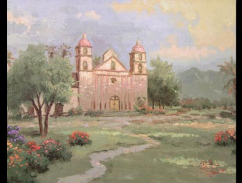Thomas Kinkade - Old Mission Santa Barbara