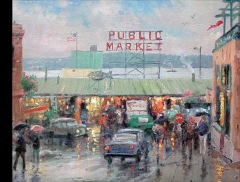 Thomas Kinkade - Pike Place Market