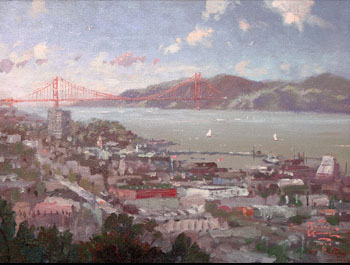 Thomas Kinkade - San Francisco View from Coit Tower