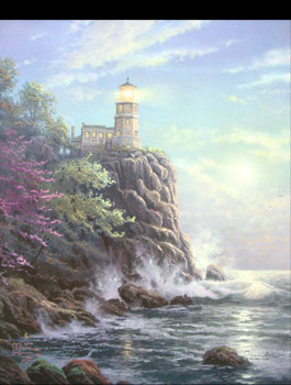 Thomas Kinkade - Split Rock Light