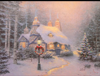 Thomas Kinkade - Stonehearth Hutch