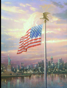 Thomas Kinkade - Light of Freedom