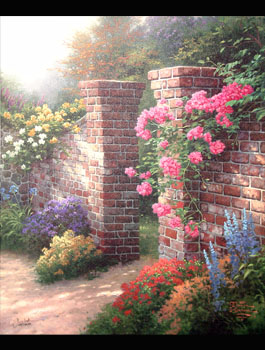 Thomas Kinkade - Rose Garden