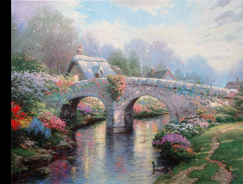 Thomas Kinkade - Blossom Bridge