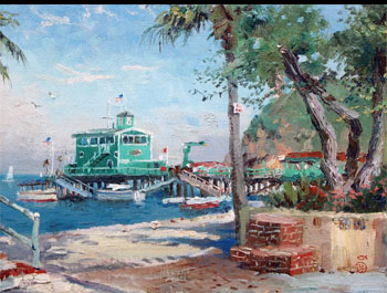 Thomas Kinkade - Catalina, Rosie's on the Pier
