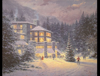 Thomas Kinkade - Christmas at the Ahwahnee