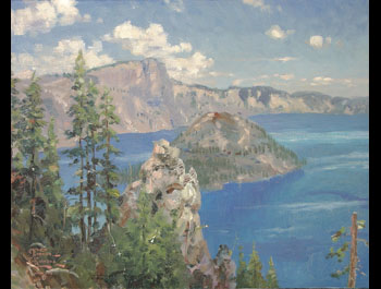 Thomas Kinkade - Crater Lake