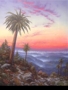 Thomas Kinkade - Desert Sunset