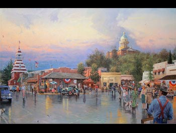Thomas Kinkade - Main Street Courthouse