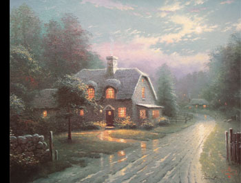 Thomas Kinkade - Moonlight Lane I