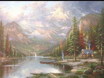 Thomas Kinkade - Mountain Majesty