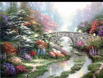 Thomas Kinkade - Stillwater Bridge