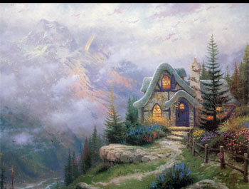 Thomas Kinkade - Sweetheart Cottage